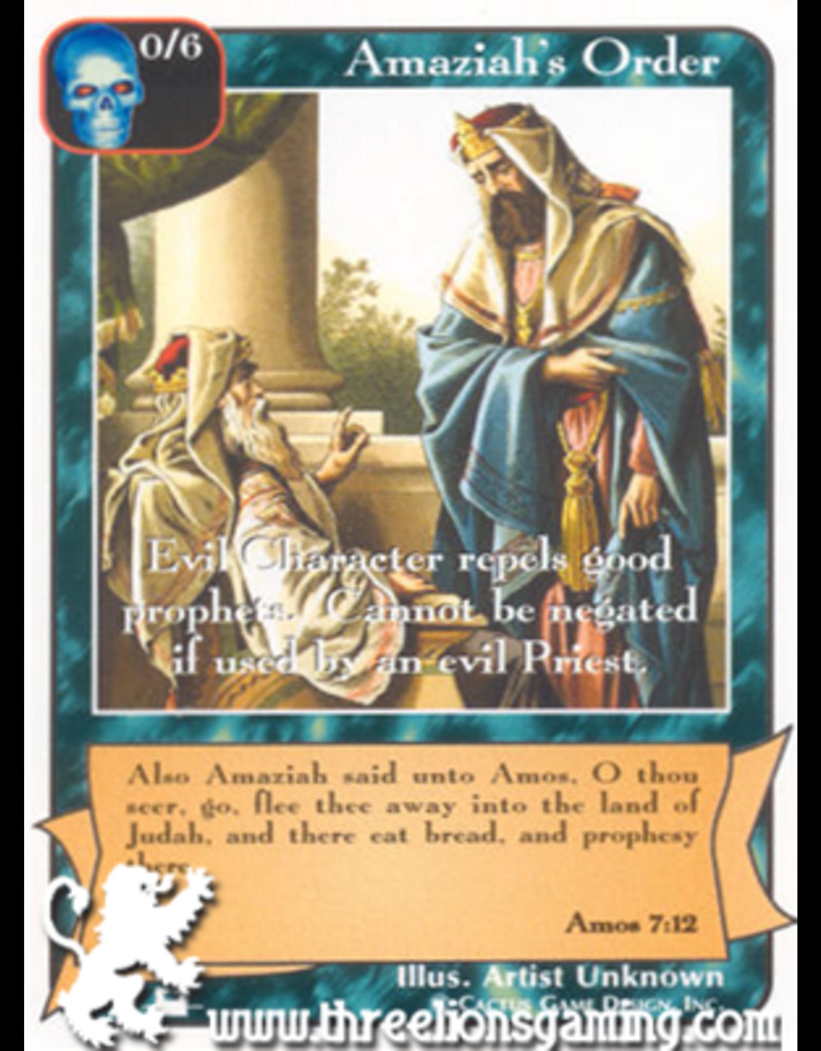 Priests: Amaziah's Order