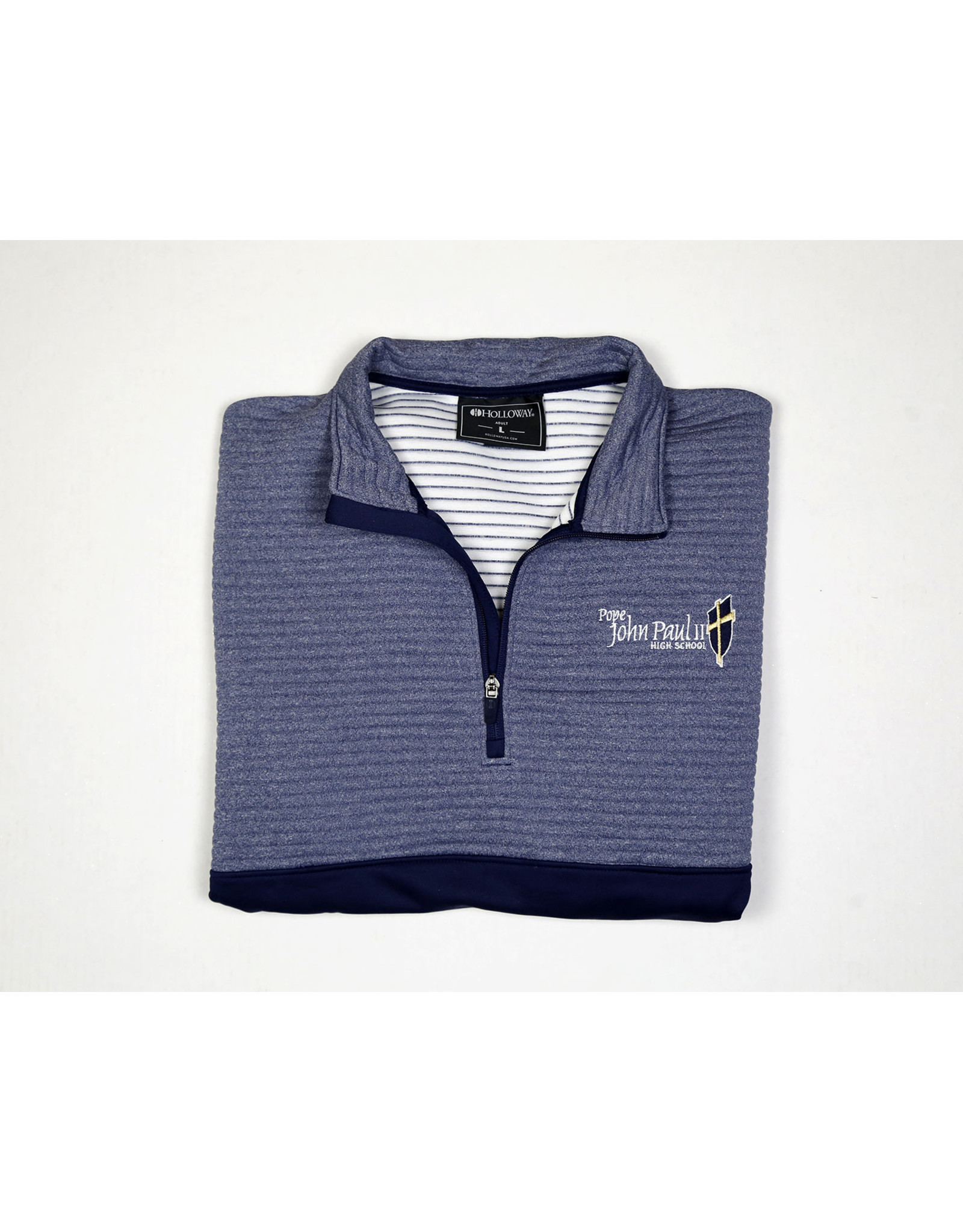 Holloway Navy 2 Tone Fitted 3/4 Zip