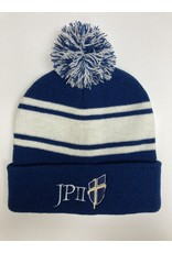 Jetline Blue and White Beanie Hat
