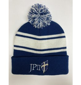 Jetline Blue and White Beanie Hat