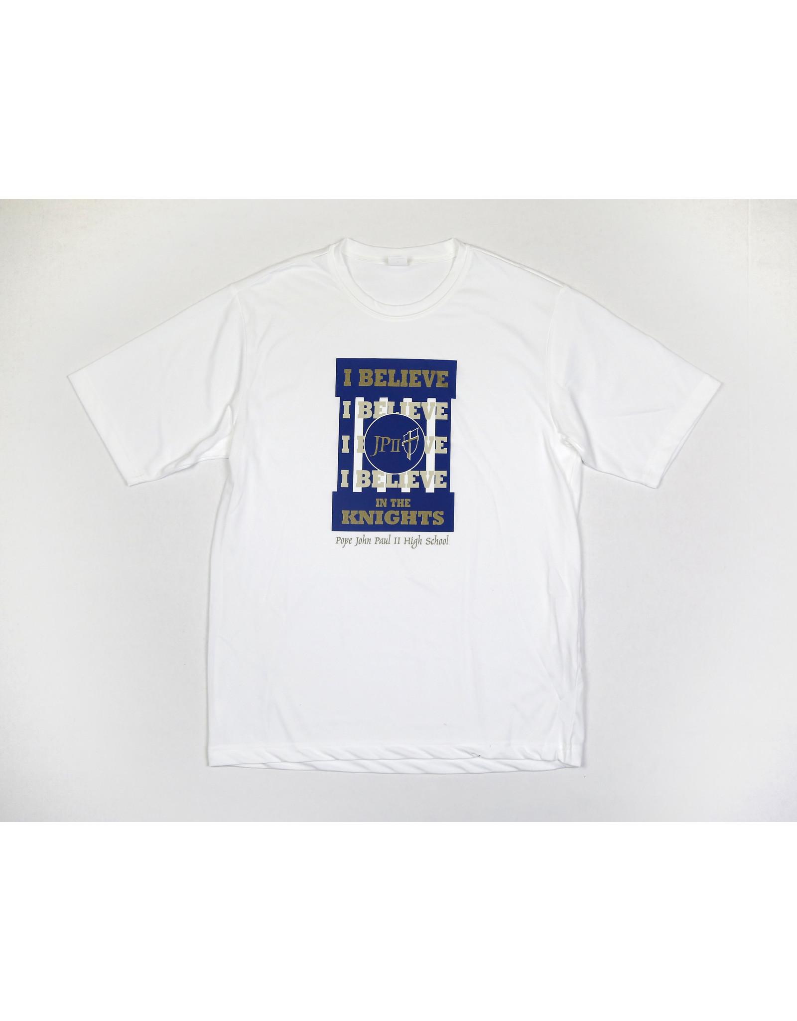 Sport-Tek I believe In The Knights Crew T-Shirt / White