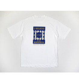 Sport-Tek I believe In The Knights Crew T-Shirt / White