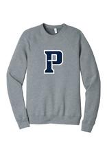 """Bella+Canvas Blue """"P"""" Crewneck Sweatshirt"""
