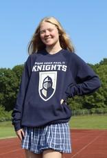 Bella+Canvas Pope Prep + Knight Logo Crewneck Sweatshirt