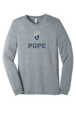 Bella+Canvas Shield+POPE Long-Sleeve Tee Athletic Heather