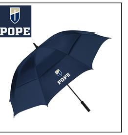 UMBRELLA (NAVY) Umbrella with Pope + Shield Logo
