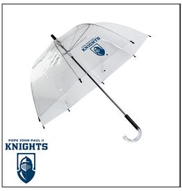 UMBRELLA (CLEAR) Umbrella with KNIGHTS Logo in WHITE