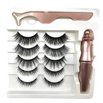 713 - 5 VARIOUS SIZE MAGNETIC LASHES 1 EYELINER AND 1 LASH APPLICATOR