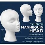 Styrofoam Mannequin Head