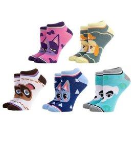 Bioworld Animal Crossing 5-Pack Ankle Socks