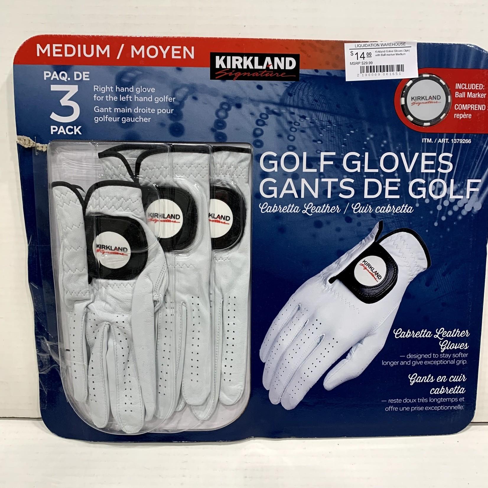Kirkland Golf Gloves (3pk)
