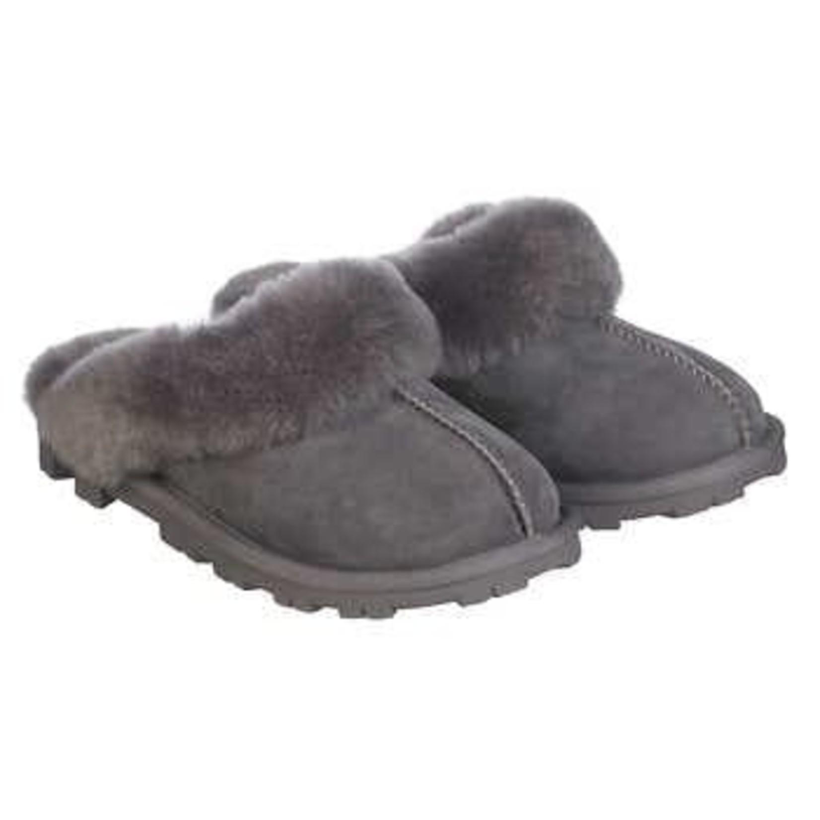 Kirkland Ladies Shearling Slipper Grey