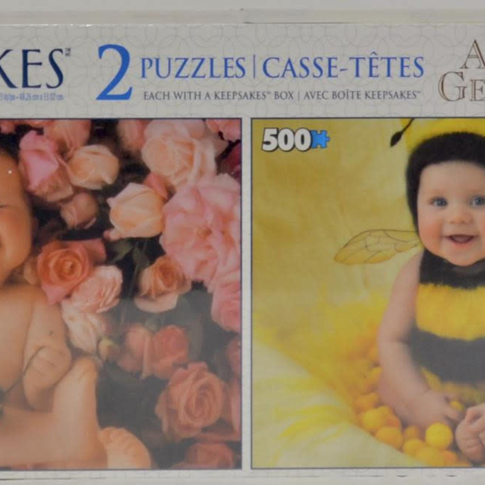 Keepsakes 2 pack Anne Geddes Puzzles