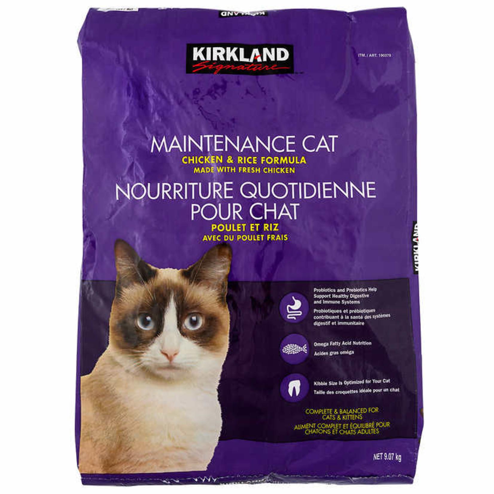 Kirkland Signature Maintenance Chicken & Rice Formula Cat Food 9.07kg