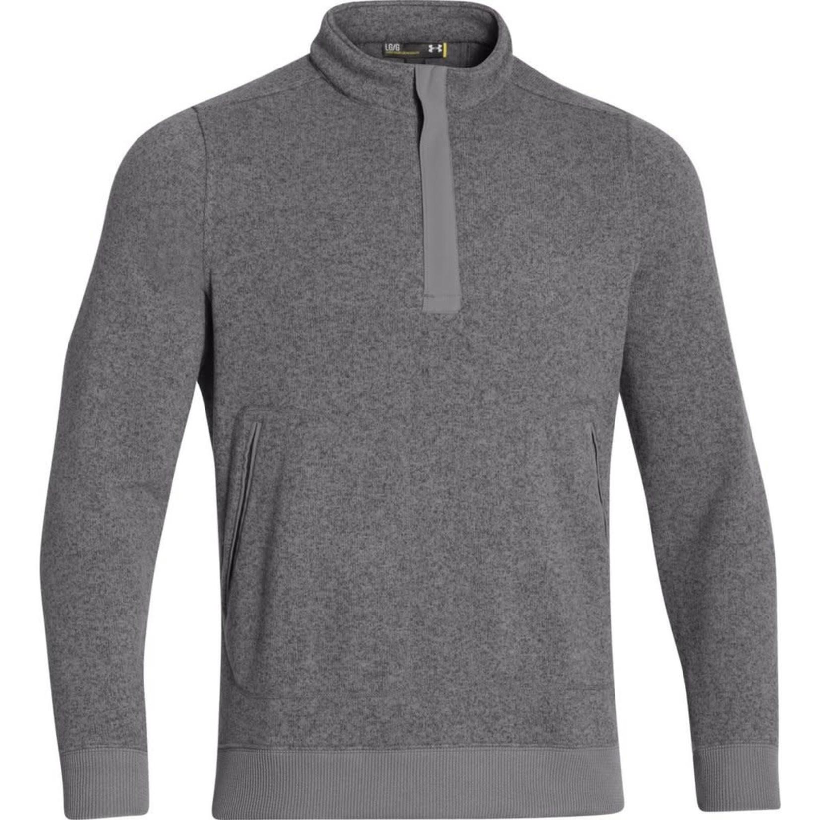 UA 1259101 Under Armour Men's Graphite Elevate Quarter Zip Sweater S
