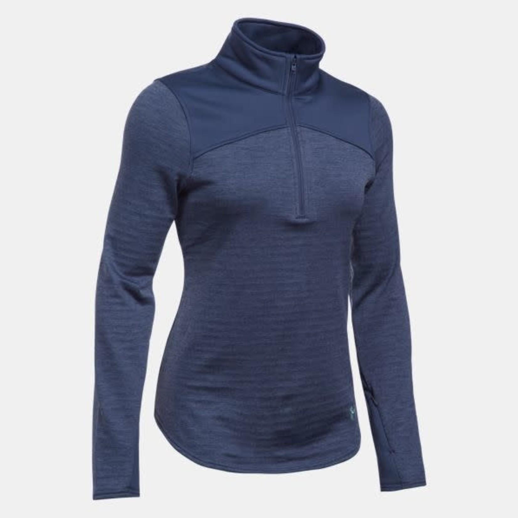 UA 1259525 LAD ColdGear 1/4 Zip Pullover Blue Large