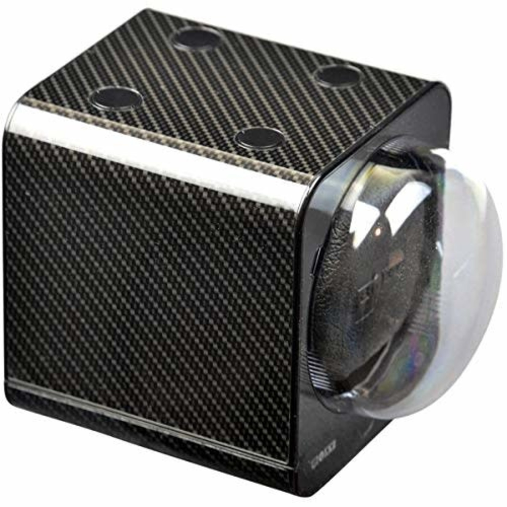Boxy Fancy Brick Carbon Watch Winder Single Stackable with Power supply *Open box