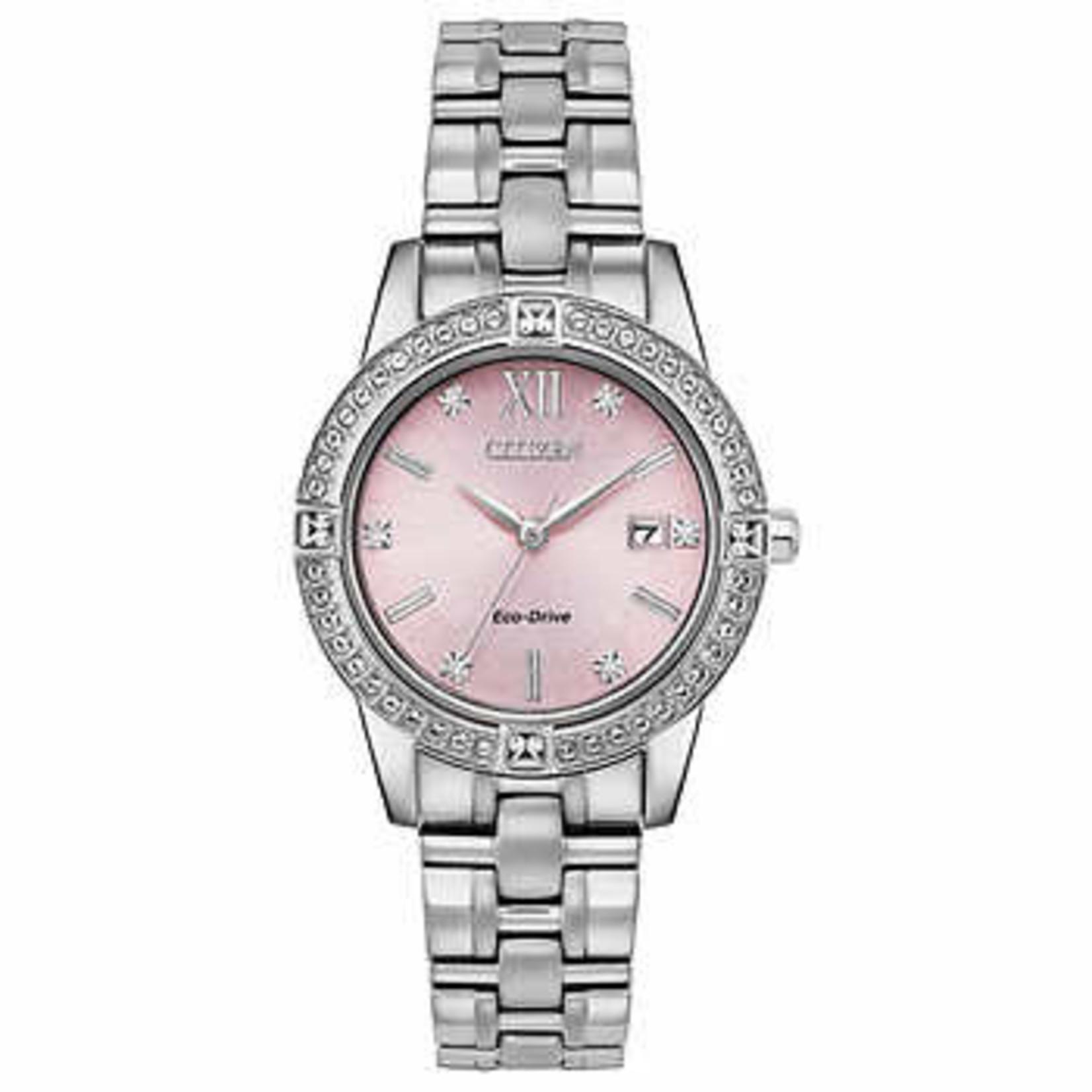 Citizen Ladies Pink Dial Watch *Grade A