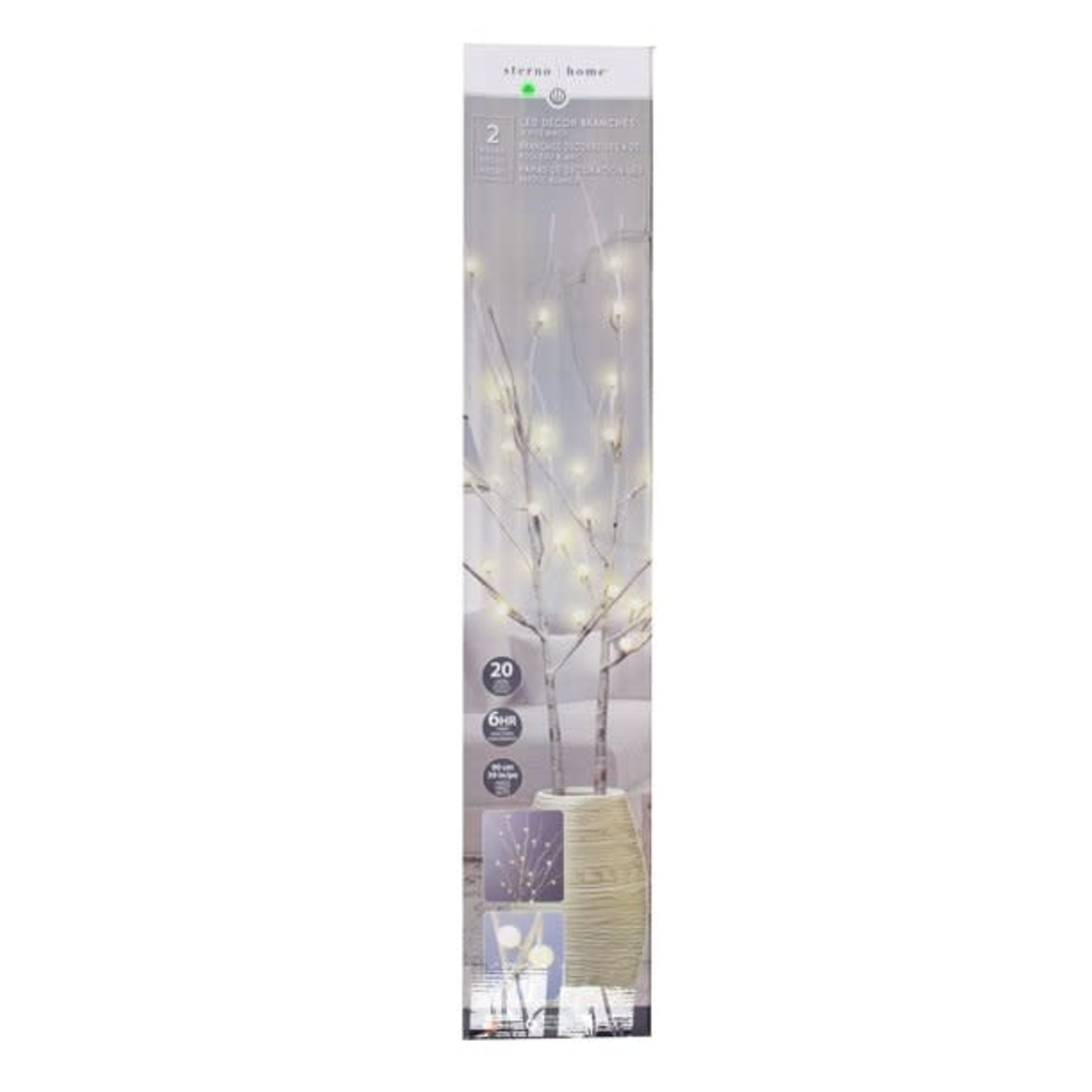 Sterno Home LED Decor Branches BROWN (set of 2)
