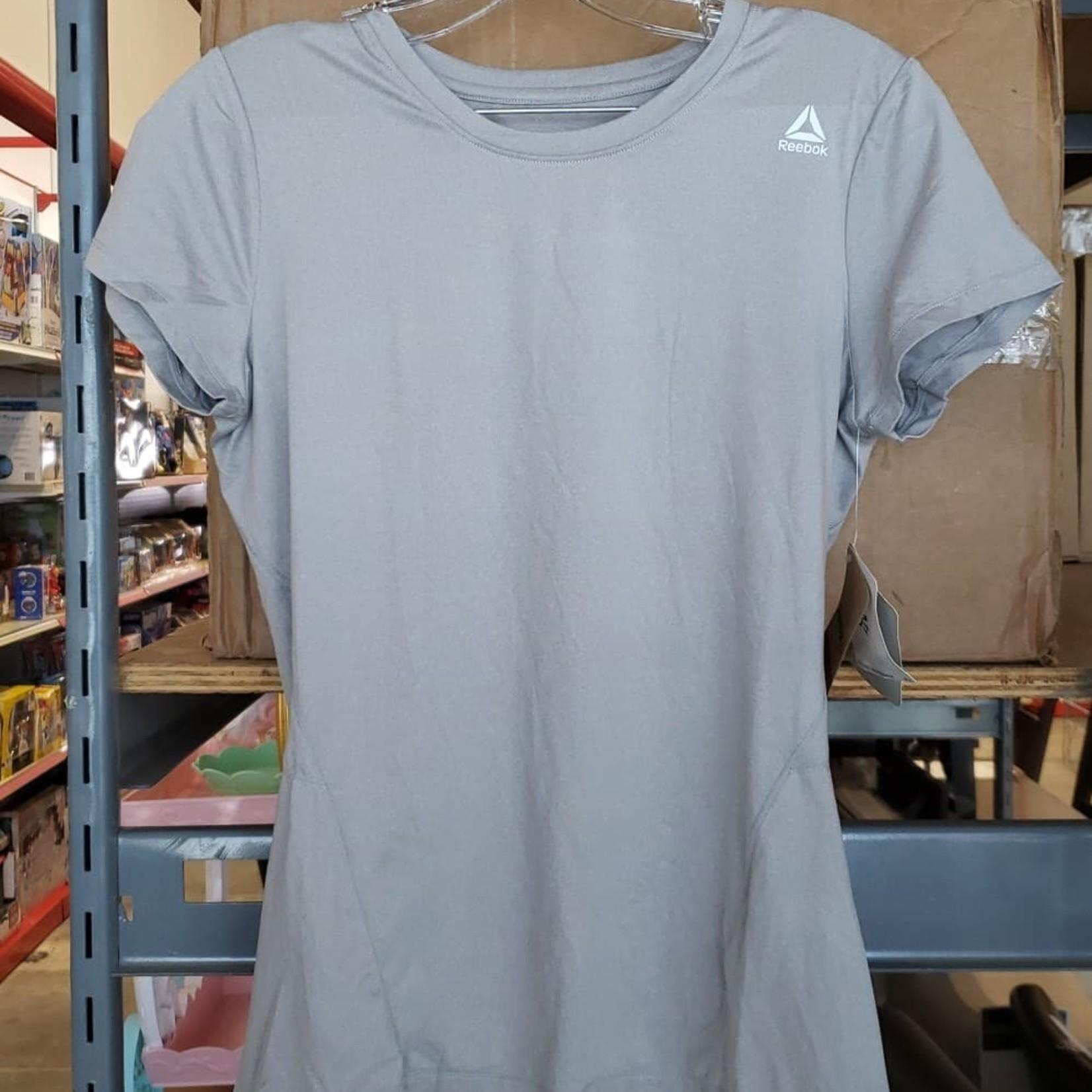 Reebok LIGHT GREY T-Shirt Women's SMALL