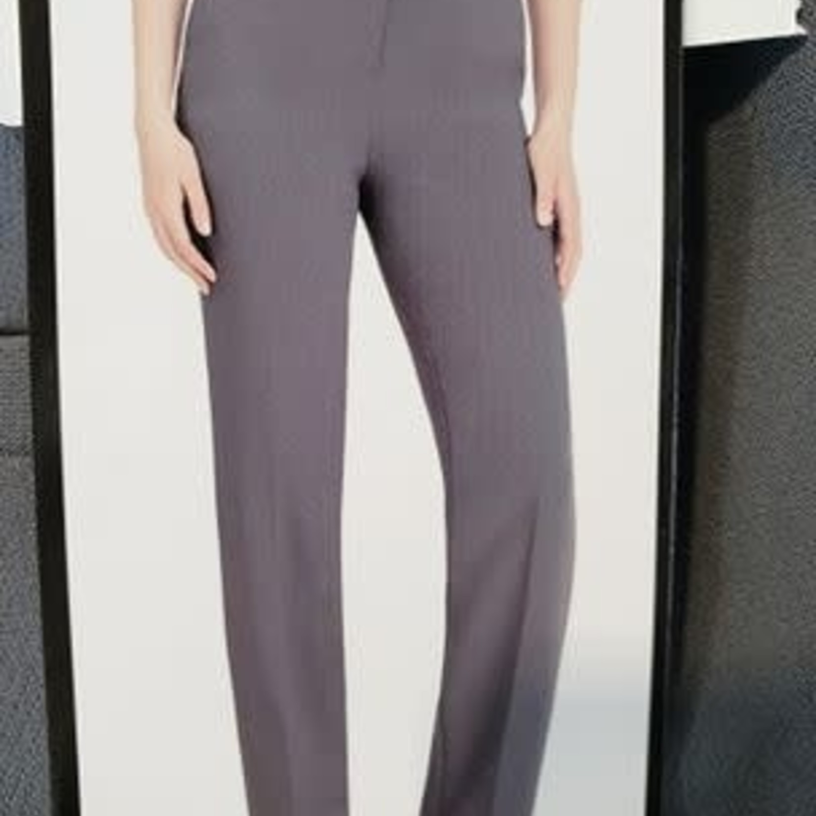 Hilary Radley Women's Grey Straight Leg Pant 8