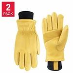 Terra Deerskin Leather Gloves XLG 2 Pack