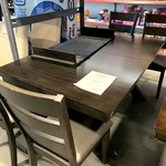 Design Imports Dining Set with Leaf table + 4 Chairs **Open box, scratches on table