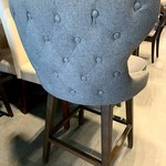 Ariana Dark Grey Swivel Barstool or Counter *Upholstered seat