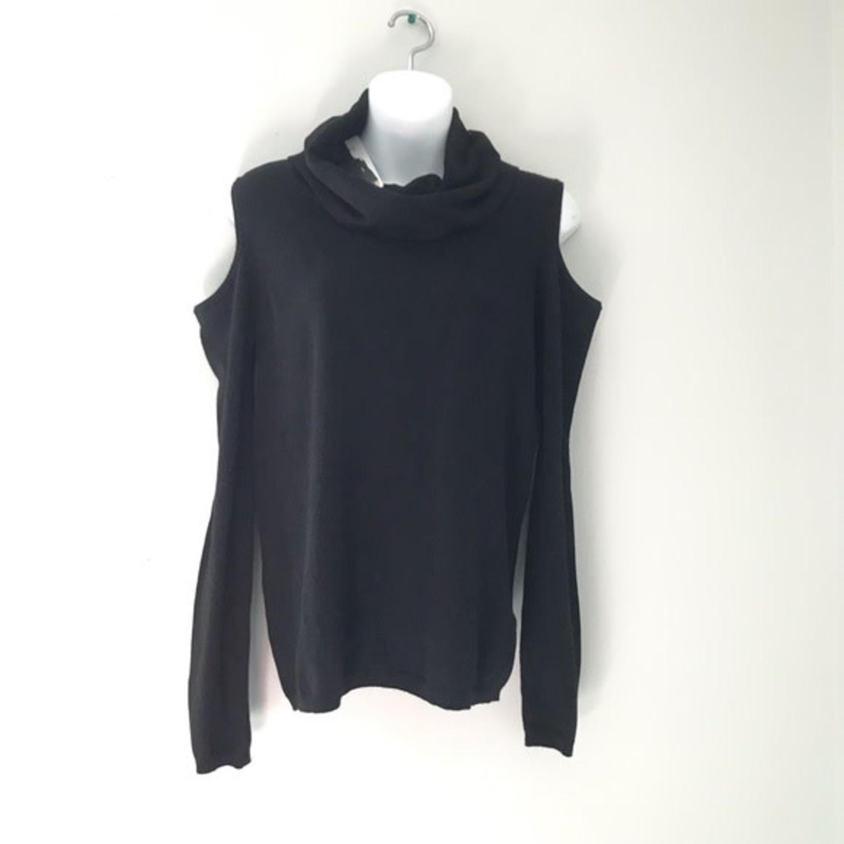 Buffalo David Bitton Ladies Open Shoulder sweater BLACK Size M
