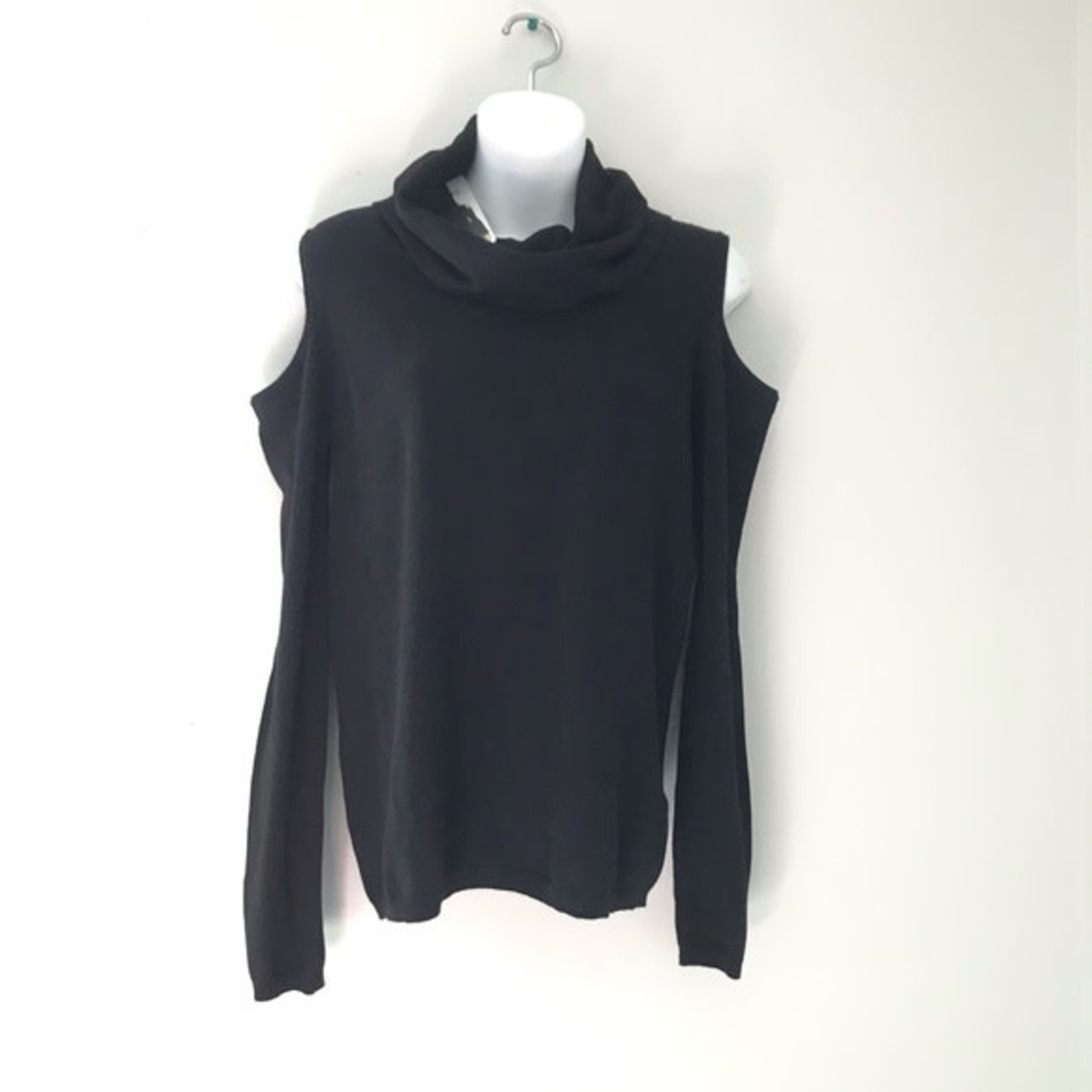 Buffalo David Bitton Ladies Open Shoulder sweater BLACK Size S