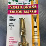 "GardenSmith 3"" Solid Brass Hose Nozzle"