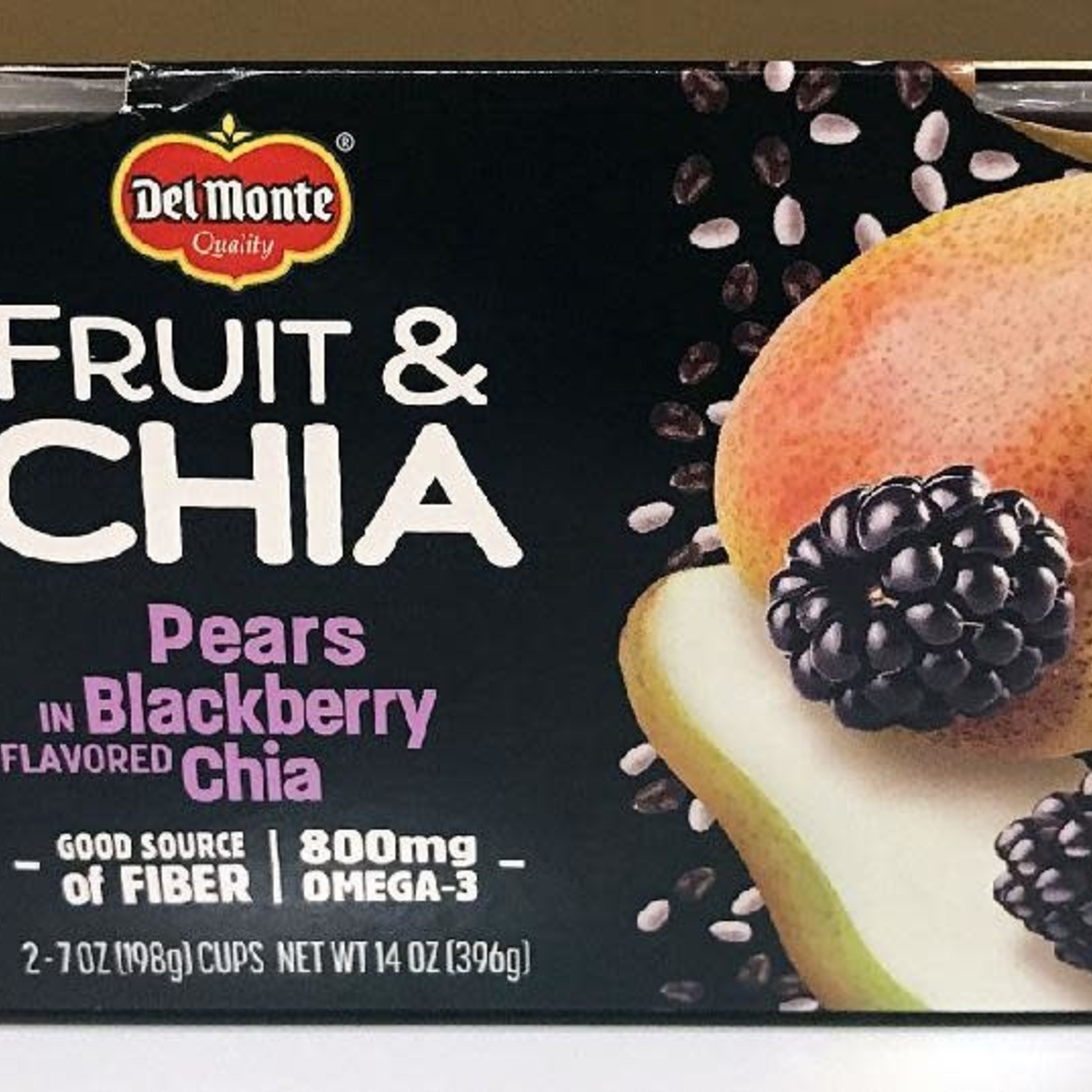 Del Monte Fruit & Chia Pears in Blackberry Flavoured Chia 2x198g *Case of 6*