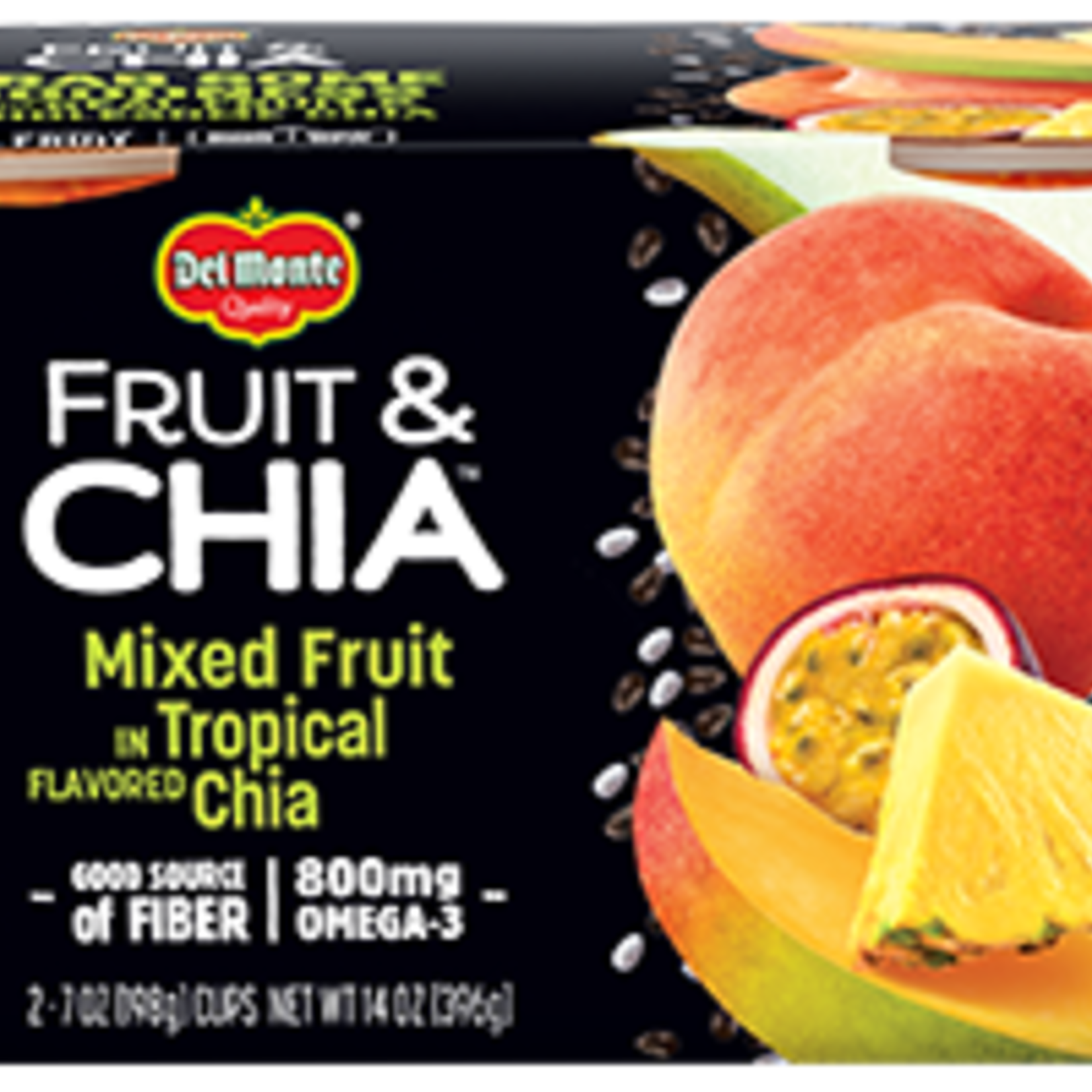Del Monte Fruit & Chia Mixed Fruit in Topical Chia 2x198g *Case of 6*