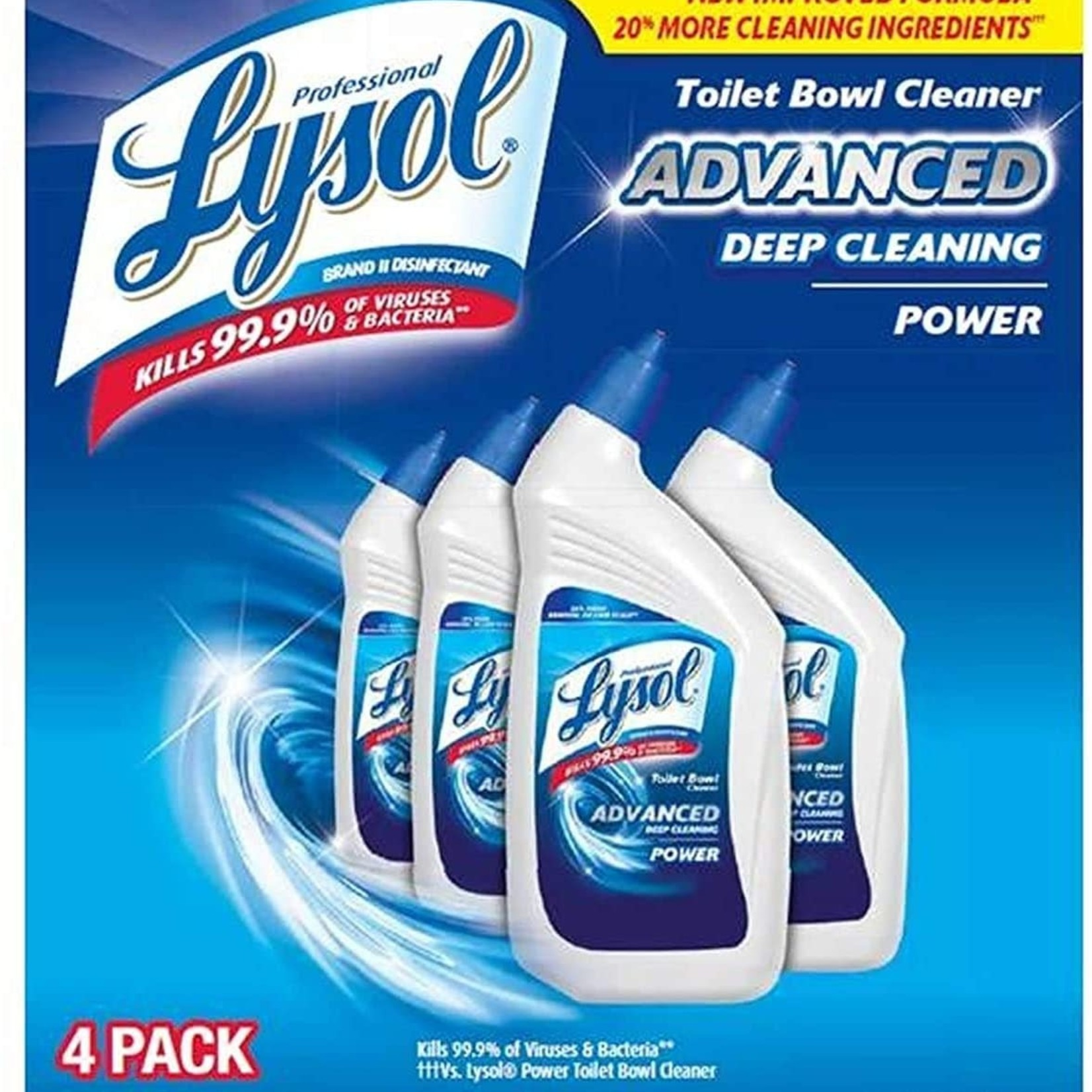 Lysol Advanced Toilet Bowl Cleaner 4 Pack
