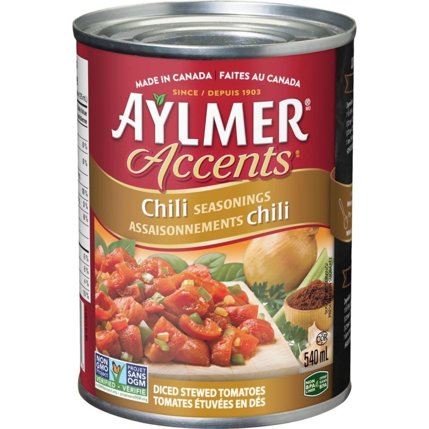 Aylmer Accents Tomatoes - Chili Seasonings 540ml