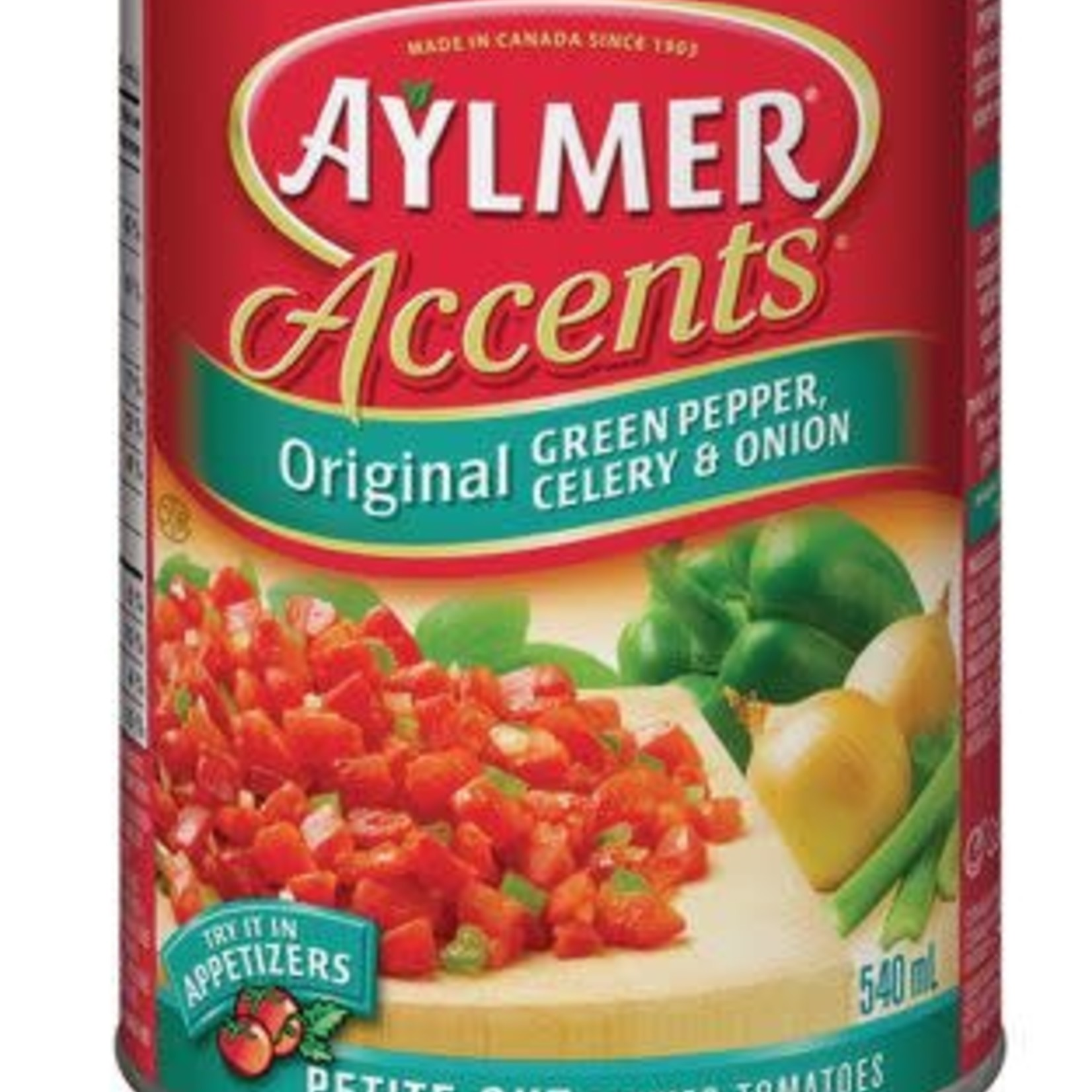 Aylmer Accents Tomatoes - Original Green Pepper, Celery & Onion 540ml