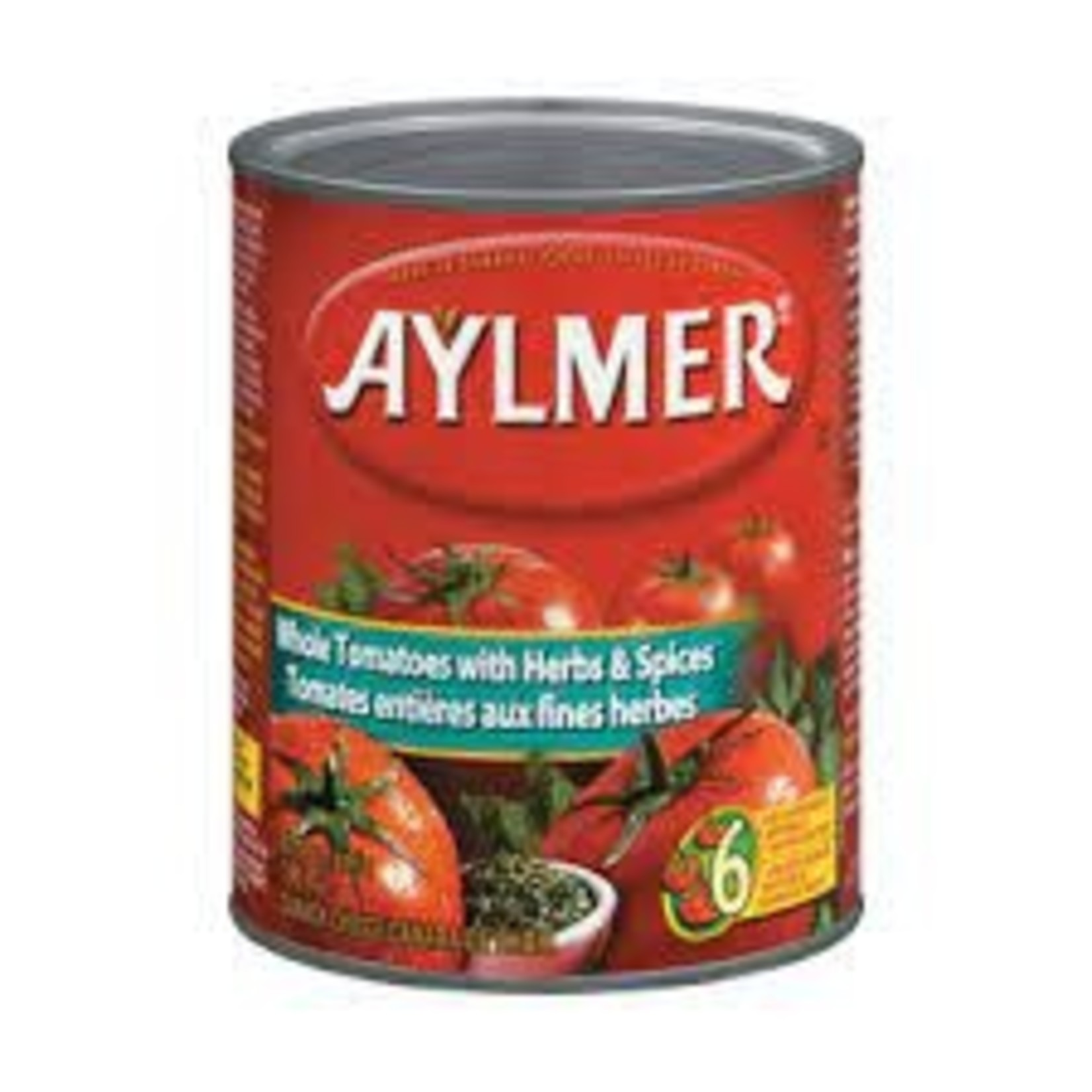 Aylmer Whole Tomatoes with Herbs & Spices 796ml