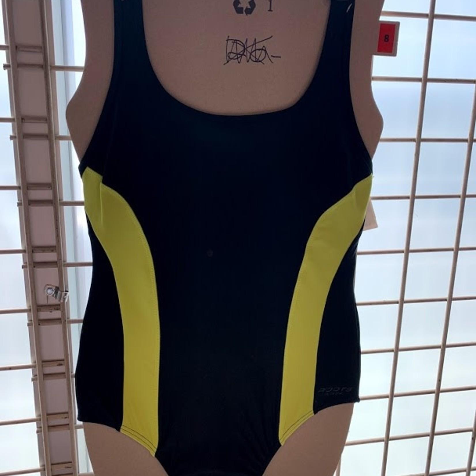Roots Bathing Suit Black/Yellow Swim Suit