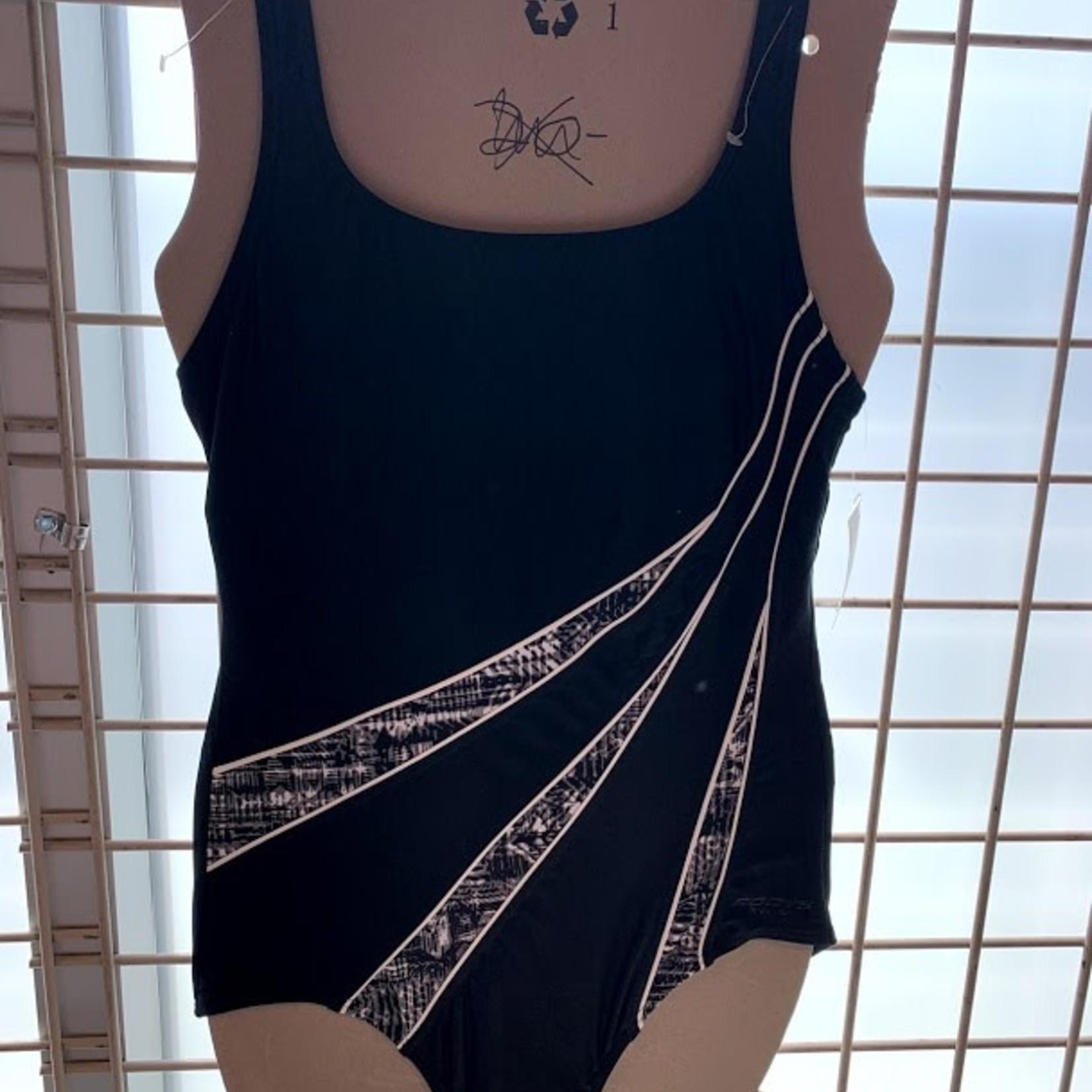 Roots Black/Grey Swim Suit Size 8