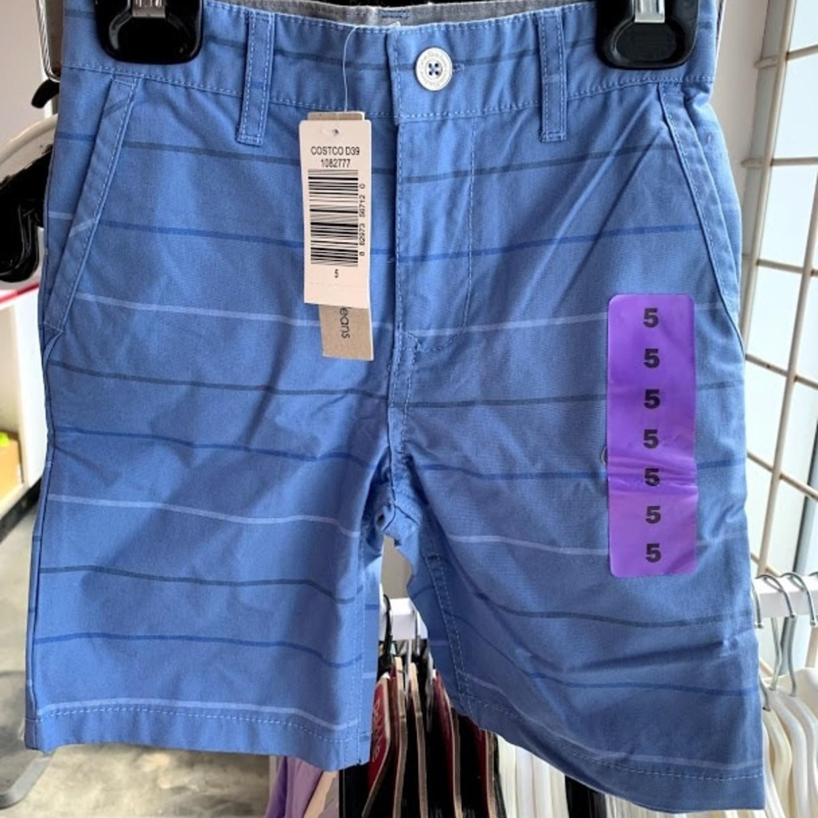 Calvin Klein Boys Walk Shorts - Blue/Strip Size 12