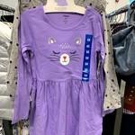 Pekkle 2 Pack Longsleeve Dress Set 6X Purple Cat