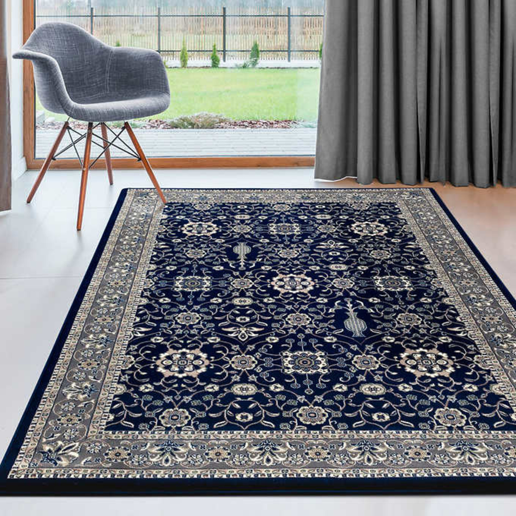 Art Carpet Kensington Blue Indoor Rug 6ft 7in x 9ft 7in
