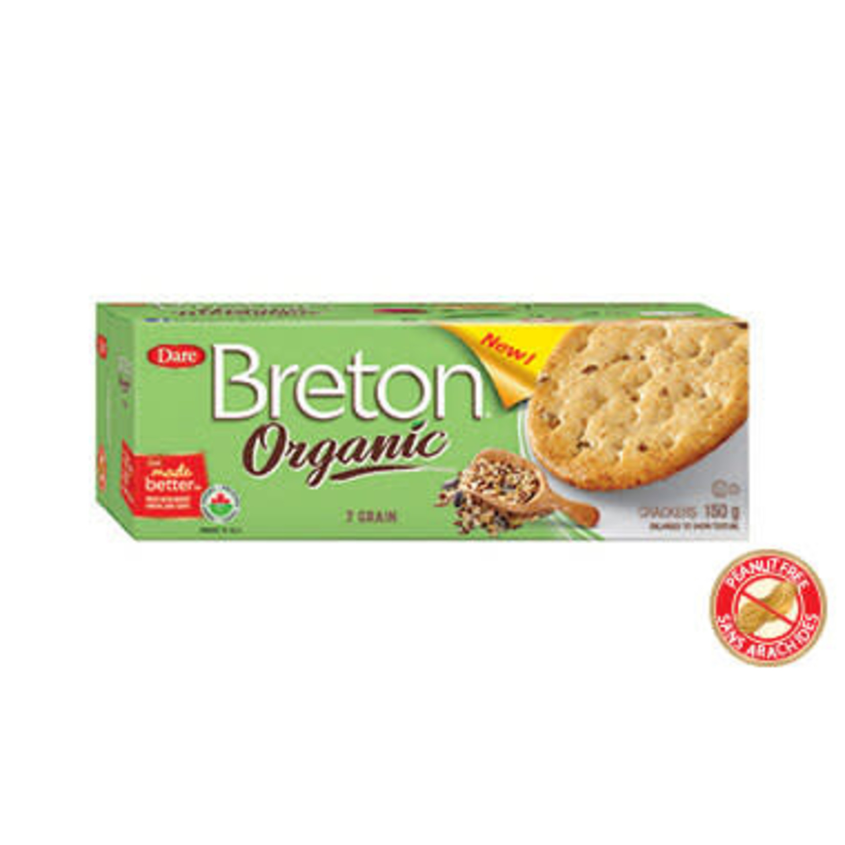 Breton Organic 7 Grain Crackers 150g