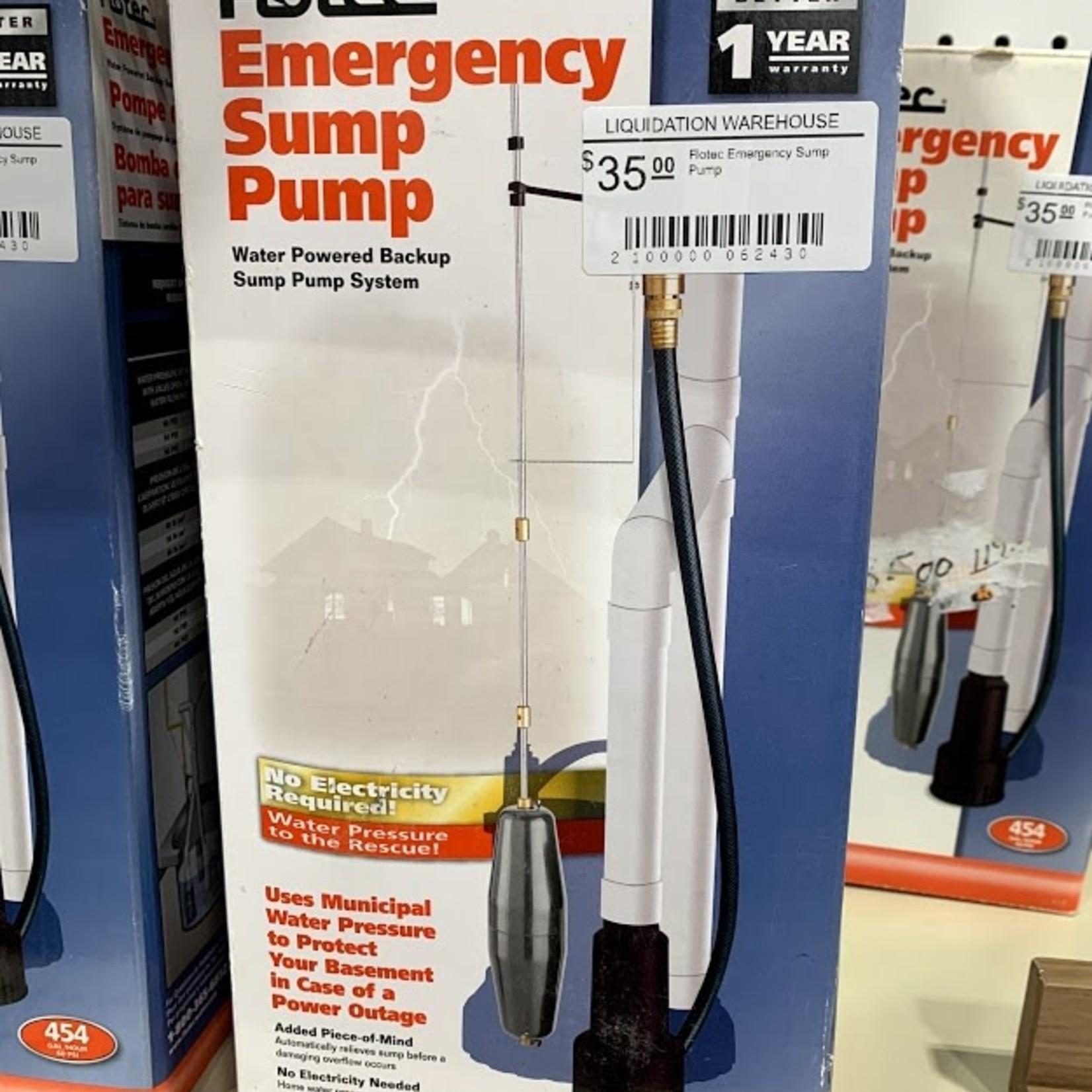 Flotec Emergency Sump Pump