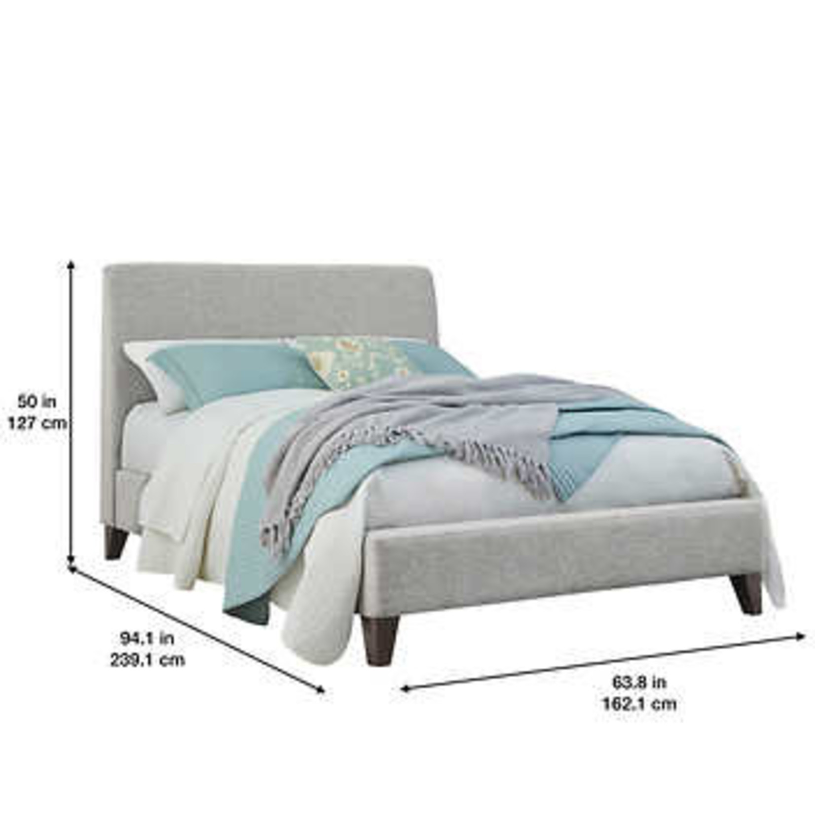 Northridge Cecelia King Upholstered bed *Open box, small hole on top corner of headboard