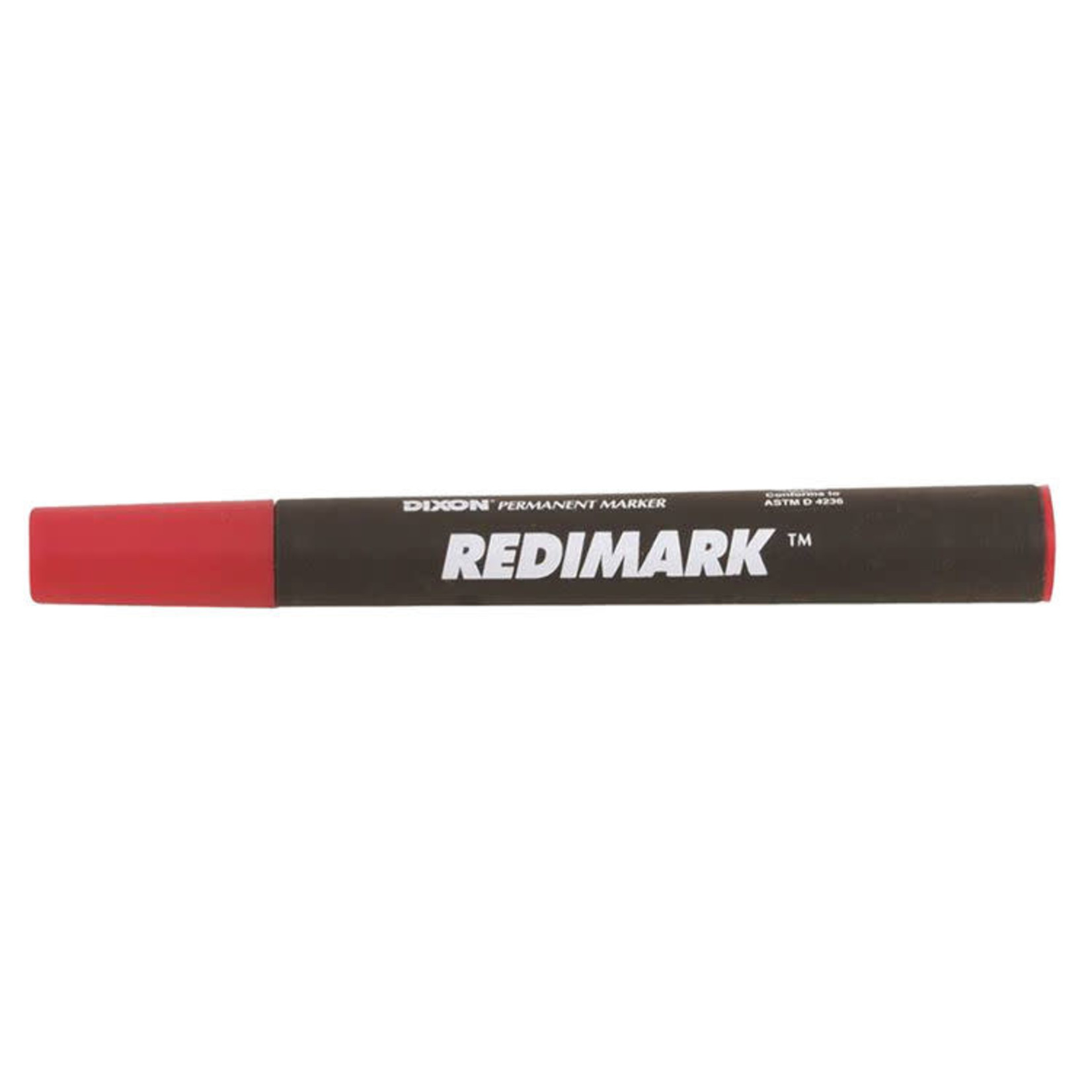 Dixon RediMark Permanent markers Chisel point Metal body Box of 12 markers Red