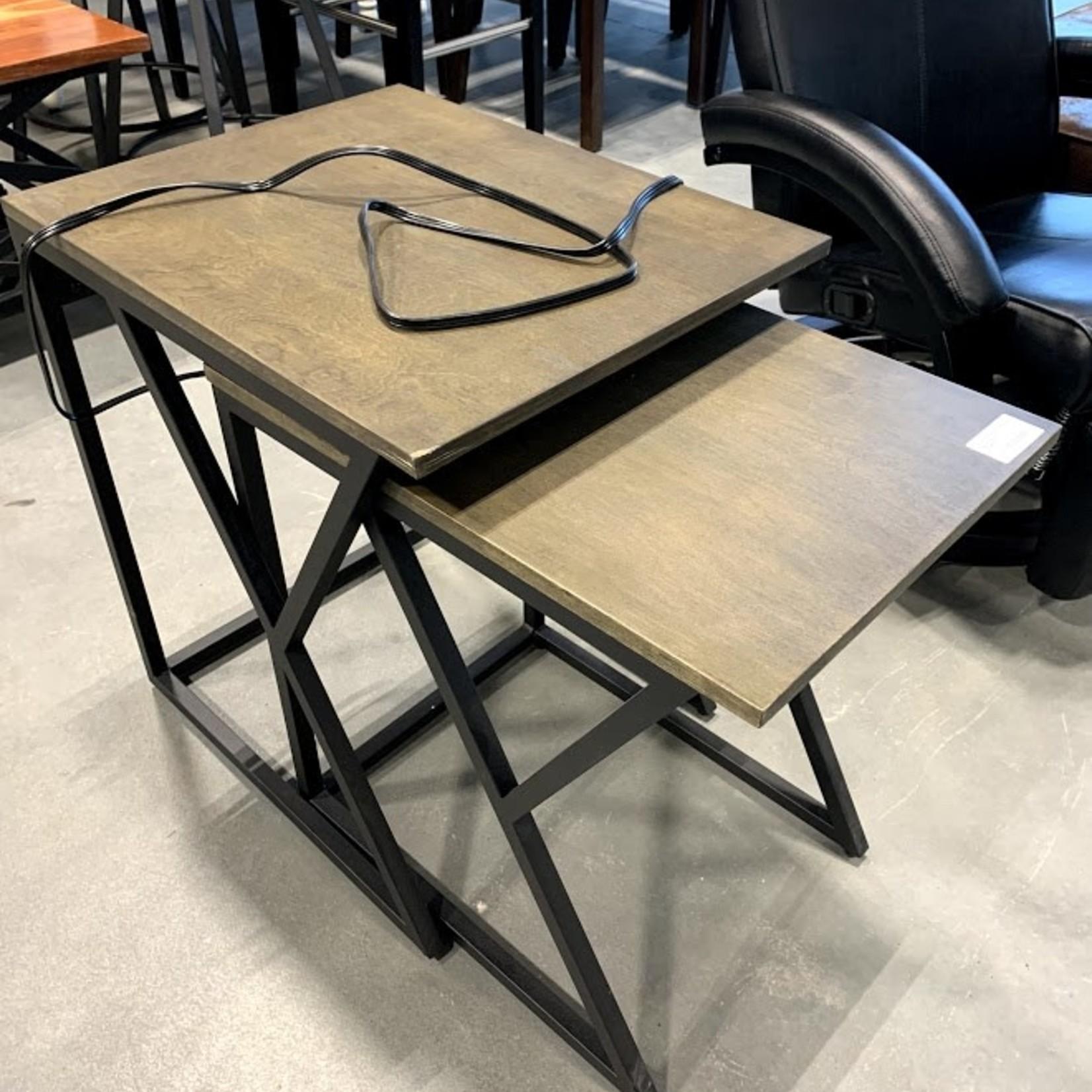 Segovia Nesting Table Set Taupe Grey * Damage to plug in area