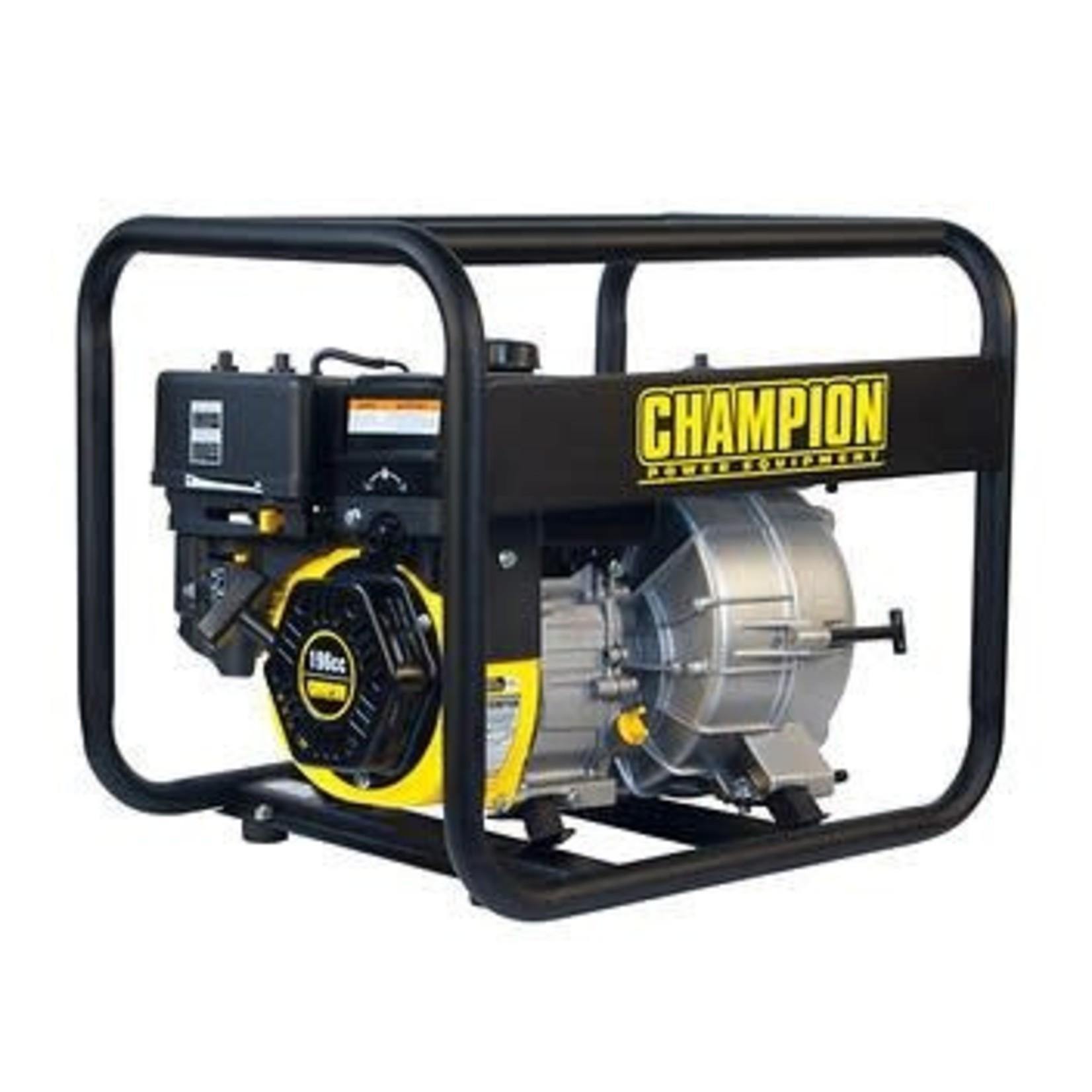 Champion 3-in. Gas-powered Semi-trash Water Transfer Pump