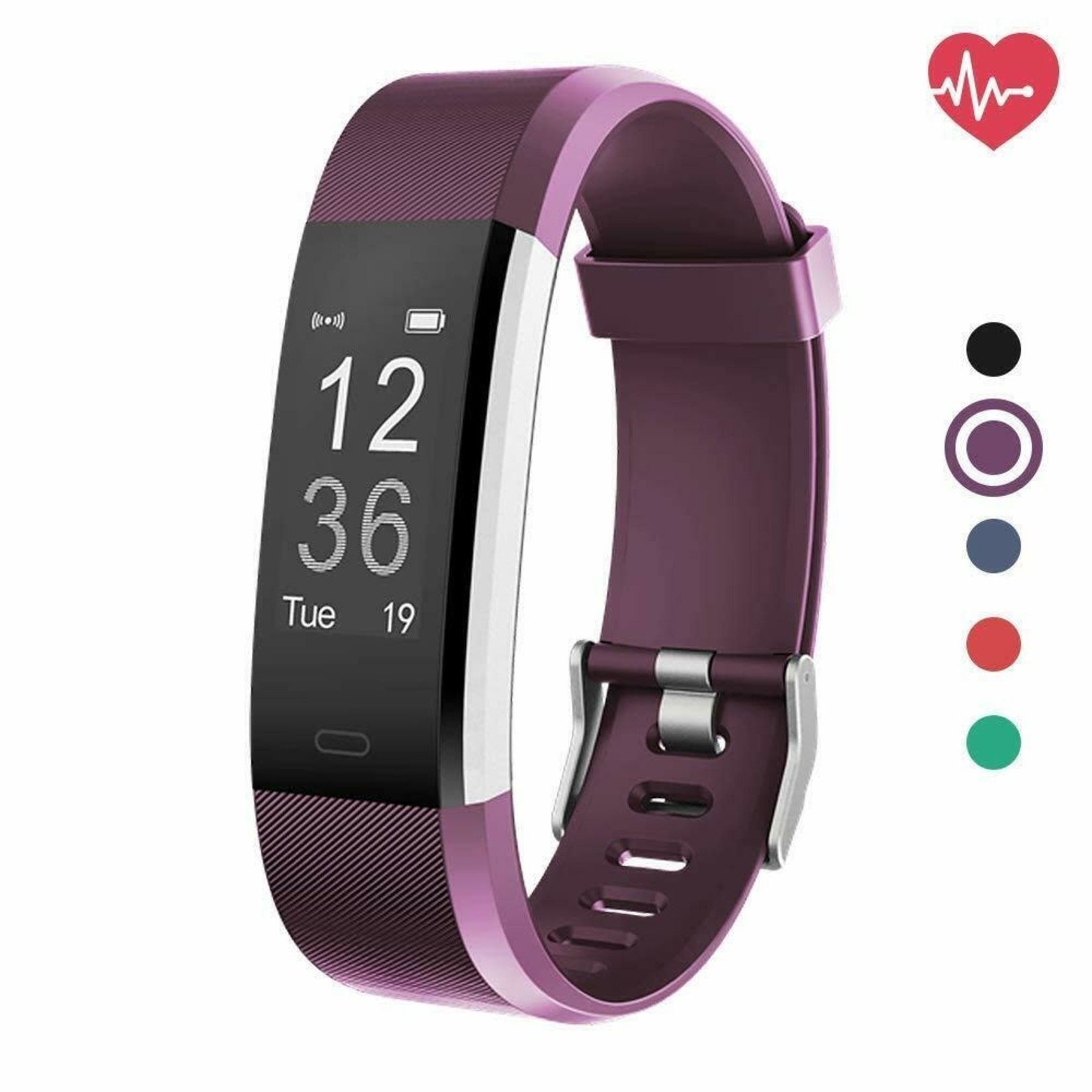 Fitness Tracker HR, Delvfire Activity Tracker Watch and Heart Rate Monitor