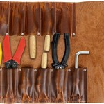 Tuzech Leather Big Tool Roll Up Bag (12 Slots), Portable Carry On Pouch